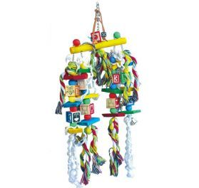 Lots To Do Wood & Rope Bird Toy