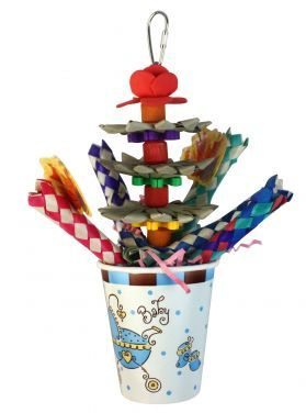 Baby Bucket Forager With Woven Paper Sticks