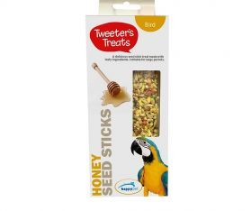 Tweeter's Treats Seed Sticks for Parrots - Honey - Pack of 2