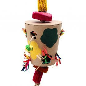 Flowerpot Natural Forager Parrot Toy