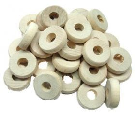 Natural Wood Discs - Toy Making Part - Pack 30