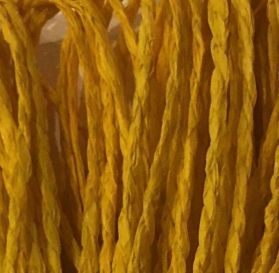 Braided Paper Rope Gold Yellow