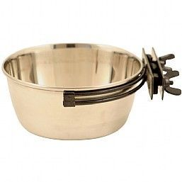 Stainless Steel Secura Bird Food Bowl 1 Litre