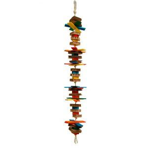 Jumpy - Multi-textured Parrot Toy - Large