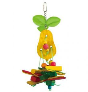 Pear Pieces Wood Bird Toy