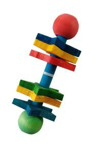 Ickle Rattle Fun Wooden Foot Toy