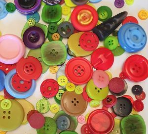 Approx 100g Of Mixed Buttons Toy Making Part