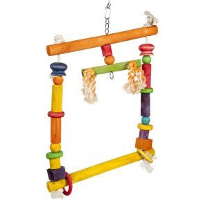 Colourful Square Swing - Large Bird