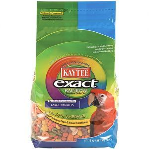Kaytee Exact Rainbow Chunky Complete Food for Large Parrots 20lb