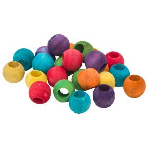 Rainbow Wood Beads Pack 24 - Toy Making Part