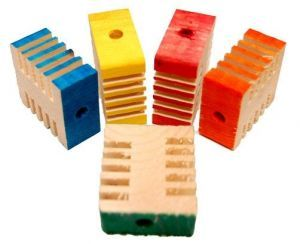 Coloured Small Groovy Blocks - Parrot Toy Parts - Pack 10