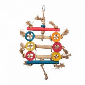 Bamboo Ring Abacus Small Bird Toy 44cm