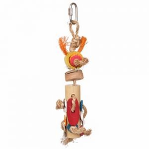 Braided Bamboo Tower Small Natural Bird Toy