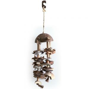 Coco Shell N Chime Medium Natural Bird Toy