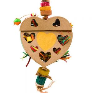 Heart Natural Foraging Box Large Bird Toy