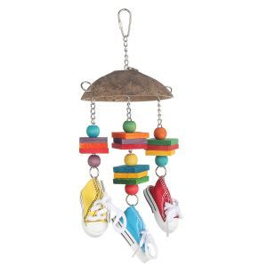 Sneaker Chime Bird Toy With Wood