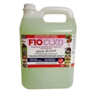 F10 Avian CLXD Cleaner Disinfectant Concentrate 5 Litre