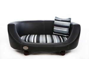 Chester & Wells Oxford II Small Black Dog Bed