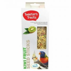 Tweeter's Treats Seed Sticks for Parrots - Kiwi - Pack of 2